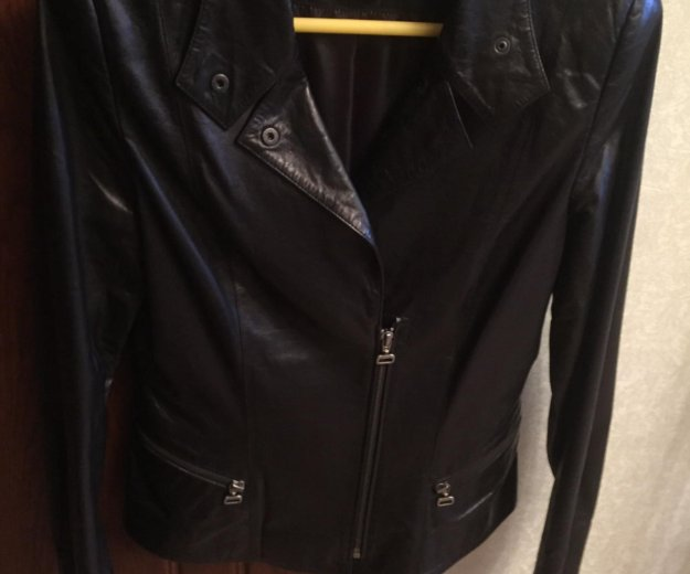 Кожаная куртка новая. Фото 1. Зеленоград.