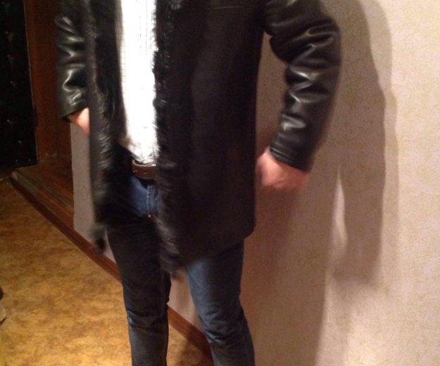 Кожаная зимняя куртка (мех - бобер). Фото 4. Ростов-на-Дону.