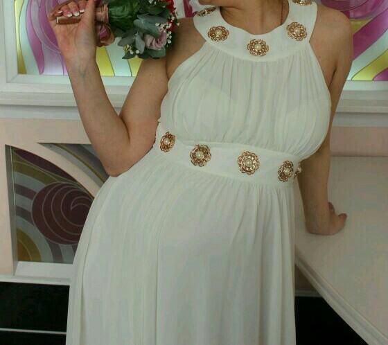 Свадебное платье для беременных. Фото 3. Белоярск.