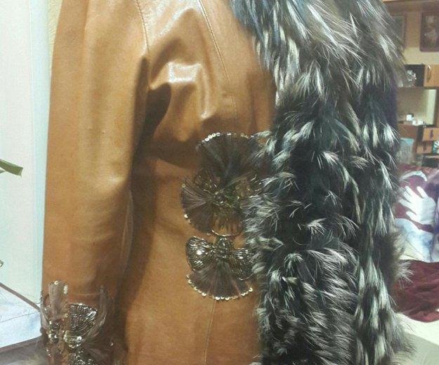 Куртка с мех чернобур. кожаная(натуральная)женская. Фото 4. Москва.