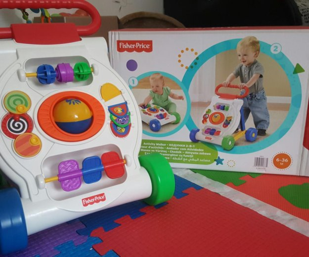Ходунки 2-в-1 каталка fisher-price. Фото 1. Мытищи.