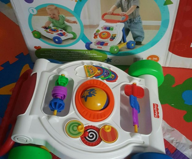 Ходунки 2-в-1 каталка fisher-price. Фото 2. Мытищи.