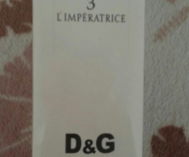 Dolce & gabbana 3 l'imperatrice  100 мл. Фото 1. Энгельс.