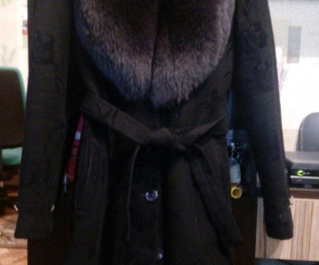Зимнее пальто с мехом песца. Фото 1. Москва.