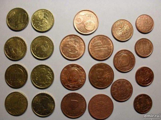 Монеты 1-50 евроцентов. Фото 2. Пермь.