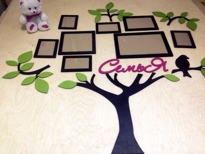 личных семейное дерево картинки из фанеры одной стороны