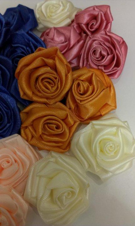 Цветы из атласных лент купить в москве доставка цветов нижний новгород сормовский район недорого