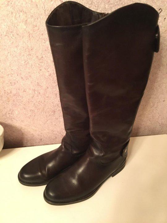 Кожаные сапоги Mascotte – купить в Ильинском, цена 4 000 руб., дата ... 5530e393b46
