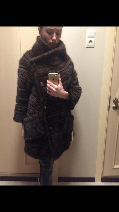 пальто из вязаной норки трансформер купить в москве цена 16 500