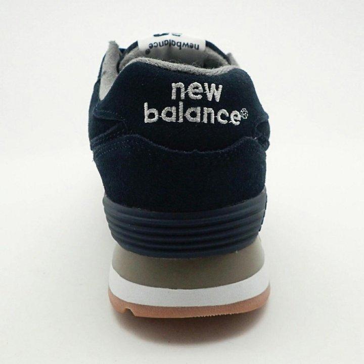 Мужские кроссовки new balance 574 темно синие замш – купить в Москве ... 856fa8e9836