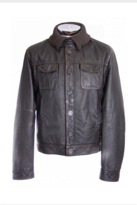 e0658f6d885a Кожаная куртка Armani Jeans – купить в Москве, цена 23 000 руб ...