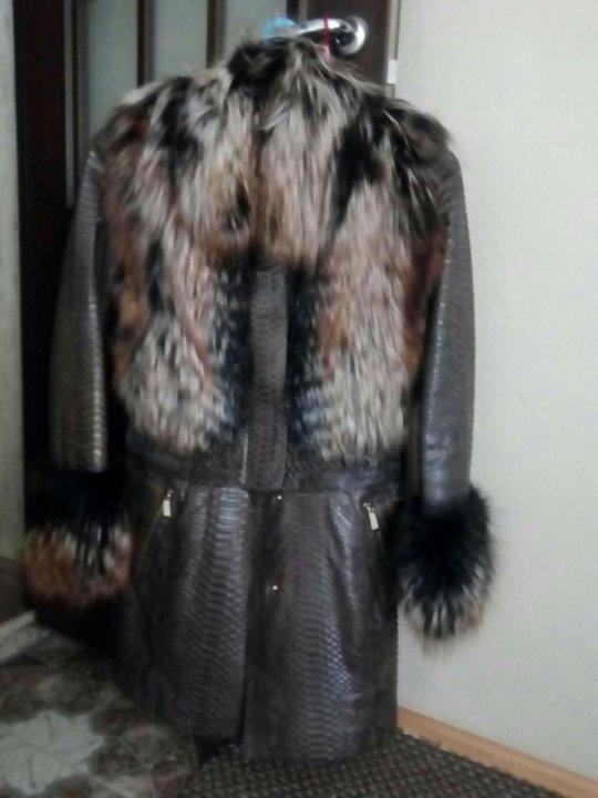 7cfffccc6a3 Натуральная куртка-пальто питон – купить в Балашихе