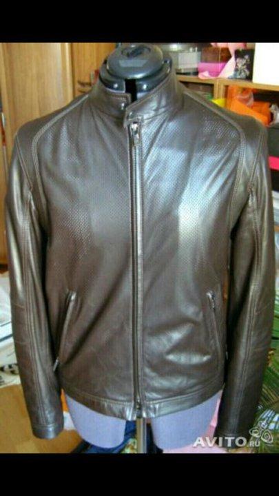 3b307be7f566 Armani Collezioni, новая кожаная куртка, оригинал – купить в Москве ...
