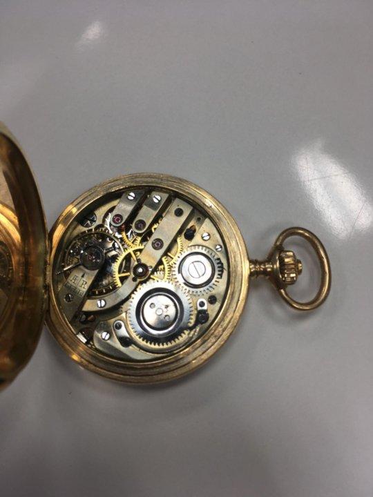 золотые карманные часы мозер фото