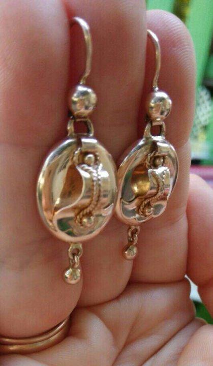 3dca283371810a Золотые серьги самовары – купить в Москве, цена 18 000 руб., продано ...