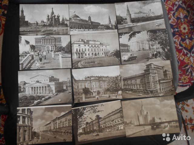 Набор 32 открыток москва