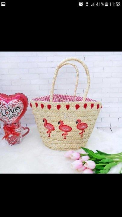 Пляжная Соломенная сумка – купить в Москве, цена 900 руб., дата ... be1dc0c6506