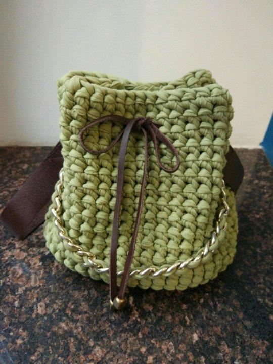 ecd1837f84d8 Вязаная сумка - торба из трикотажной пряжи 👜 – купить в Санкт ...