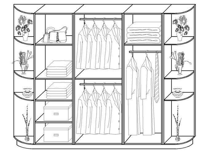 Картинки рисунки чертежи шкафов купе
