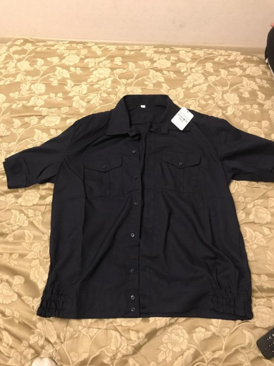 78cf82fd398 Рубашка синяя короткий рукав – купить в Москве