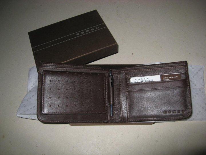 f94e4edf1345 Кожаное портмоне Cross мужское, Brown – купить в Москве, цена 4 500 ...