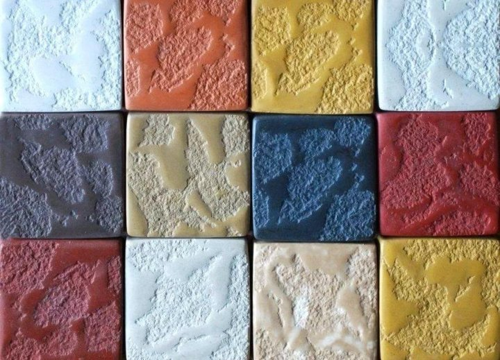краска для производства тротуарной плитки