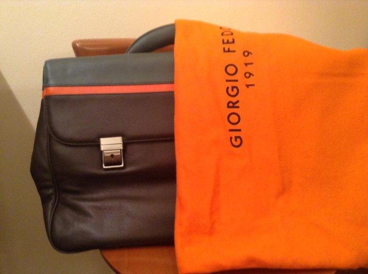 c6dbced1e52e Новый мужской кожаный портфель/сумка Giorgio Fedon – купить в Москве ...