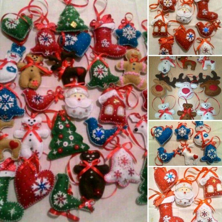 186727d1ddb7 Игрушки из фетра (новогодние подарки ручной работы – купить в ...