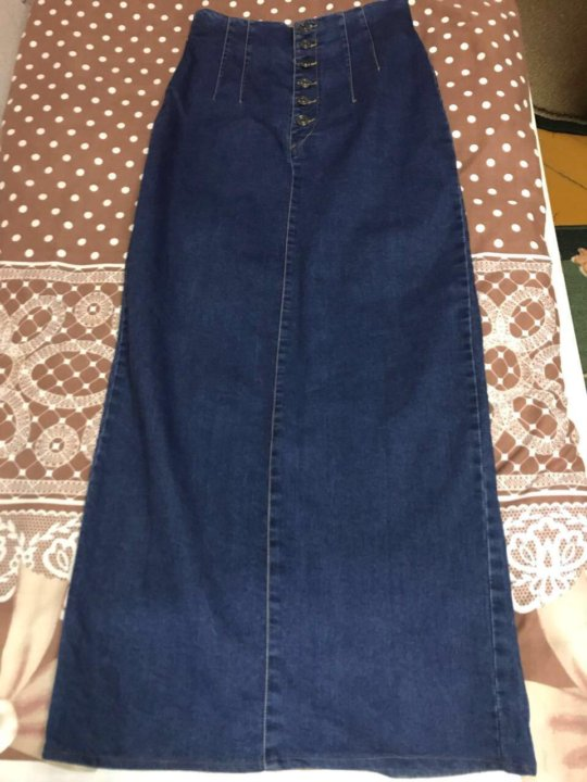 60ceb94c282 Махачкала. Юбка джинсовая длинная. Фото 4. Махачкала.