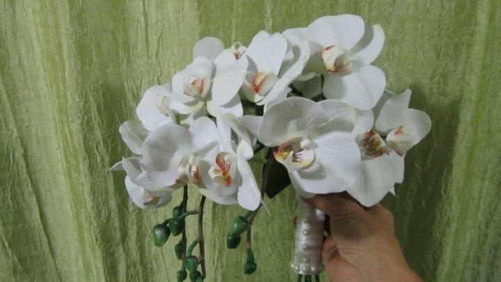 Букет капля из орхидей своими руками, цветов