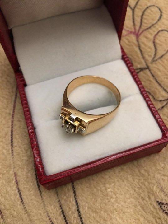 Золотой перстень с бриллиантом 0,2к новый – купить в Москве, цена 50 ... ba8b9ad1800