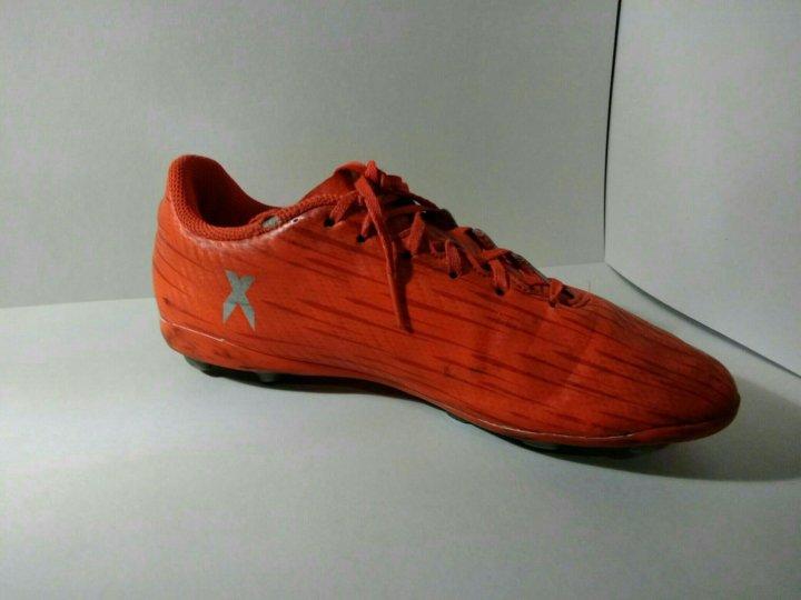 Бутсы adidas x 16.4 (оранжевые)+ футбольные щетки – купить в Санкт ... 0e3302aae27