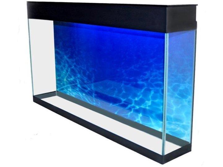 плоский аквариум на стену фото конструкция несколько уровней