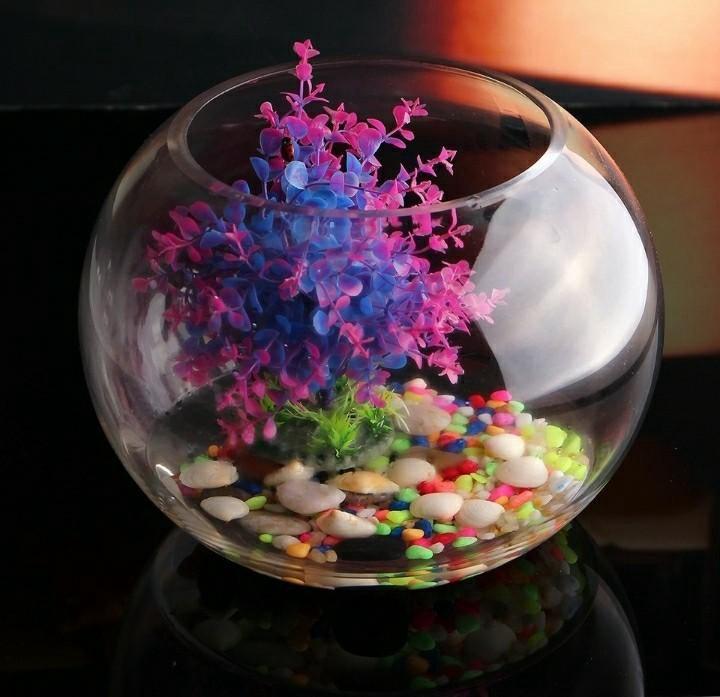 двух как украсить круглую вазу фото создаётся впечатление