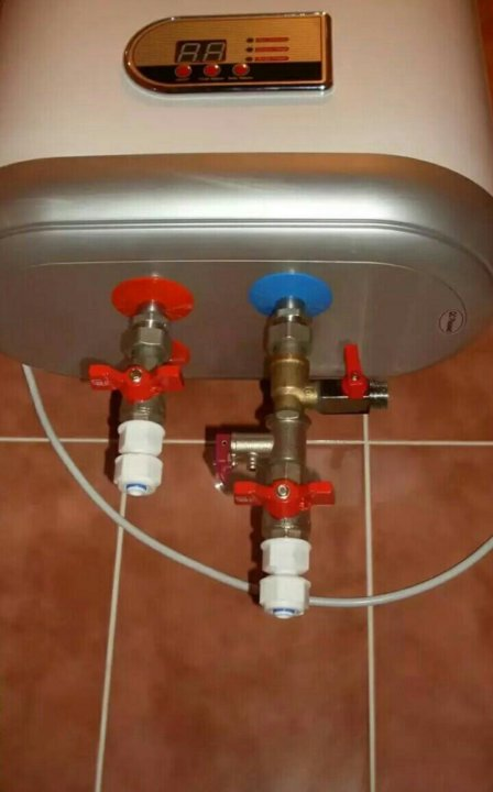 порядок подключения водонагревателя