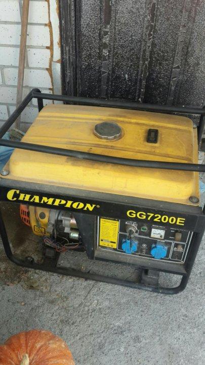 Бензиновый генератор чемпион gg7200e сварочный аппарат двухтактный