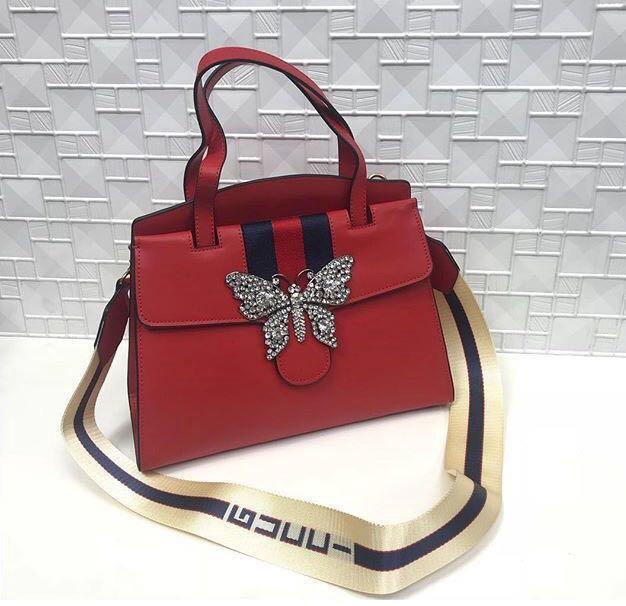 011049047f9d Кожаная сумка Gucci женская – купить в Москве, цена 4 390 руб., дата ...