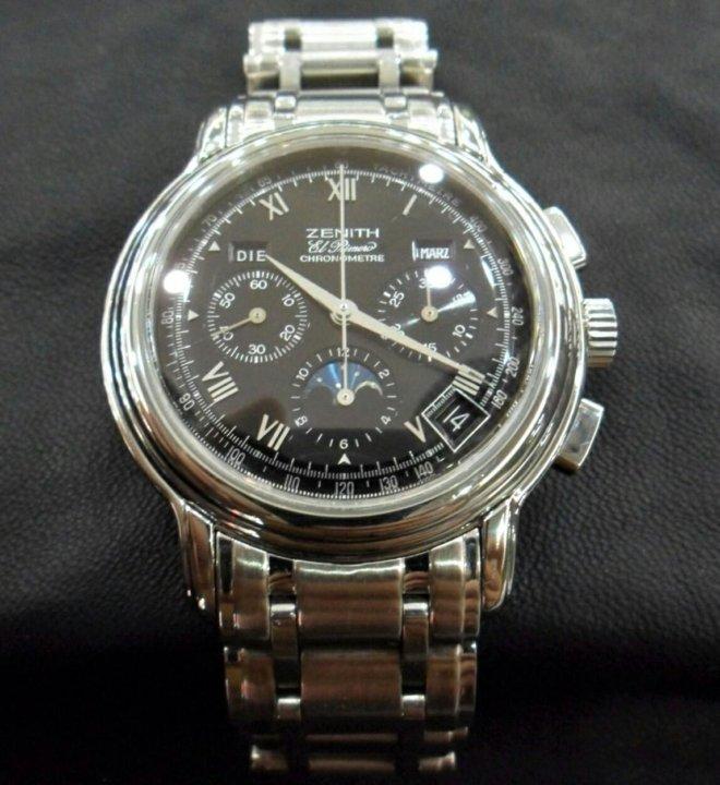 Часы Zenith оригинал – купить в Краснодаре, цена 190 000 руб ... 9a4a79d51d5