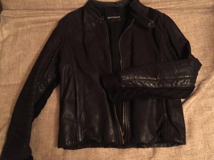 867ebacca051 Кожаная куртка мужская Armani – купить в Санкт-Петербурге, цена 15 ...