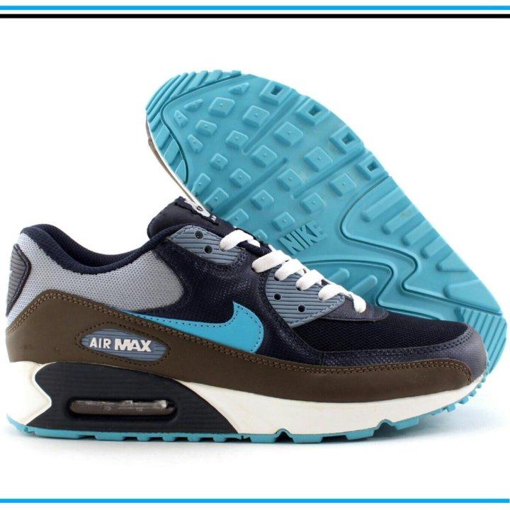 fd5b774a Кроссовки Nike Air Max 90 серые с синим – купить в Краснодаре, цена ...