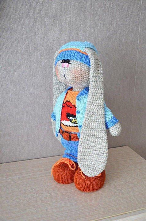 игрушка заяц тильда вязаный купить в тюмени цена 2 500 руб