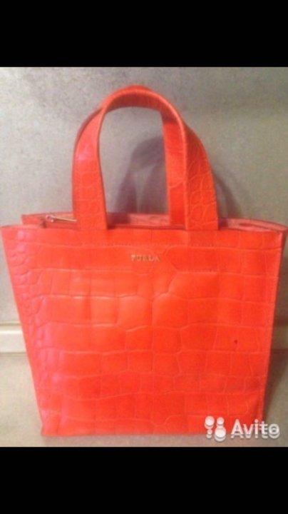 e1d115367ad7 Сумка Furla оранжевая, оригинал, новая – купить в Москве, цена 3 300 ...