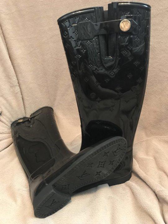 Резиновые сапоги Louis Vuitton – купить в Москве, цена 5 000 руб ... 16d878e9a79