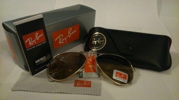 75c26489be44 Солнцезащитные очки Рей Бен Авиатор – купить в Москве, цена 1 200 ...