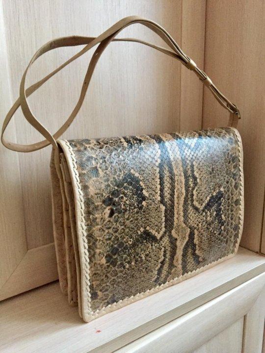 a8bd3c983baa Новая сумка-клатч из змеиной кожи, натуральная – купить в Москве ...