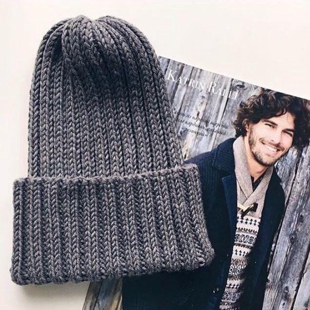 вязаная мужская шапка купить в ангарске цена 2 000 руб продано