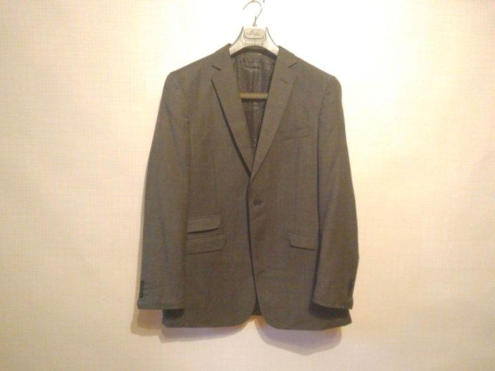 15f944b6ac95 Мужской пиджак классический серый Италия 48 – купить в Москве, цена ...
