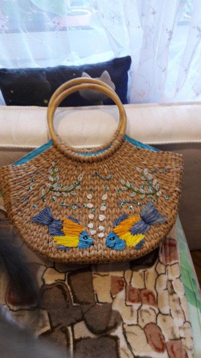 НОВАЯ Соломенная сумка – купить в Москве, цена 1 500 руб., дата ... a6f1fa86633