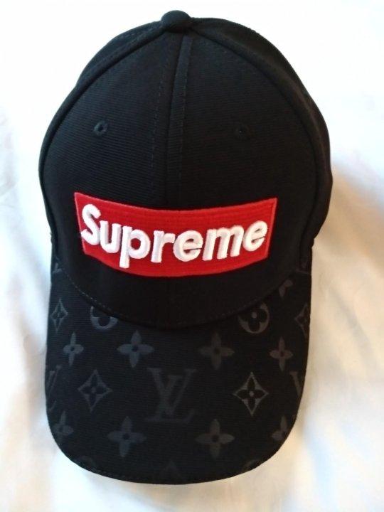 Бейсболка Louis Vuitton Supreme черная – купить в Москве, цена 1 500 ... 22cc072faee