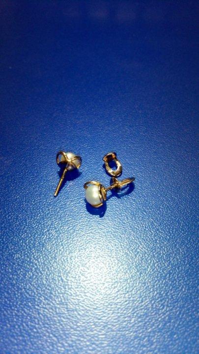 64fb0f078d58 серьги гвоздики золотые 585 пр – купить в Бийске, цена 3 800 руб ...